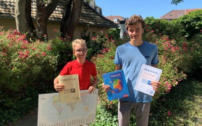 Geographiewettbewerb 2017: Philipp Eble ist Schulbester!