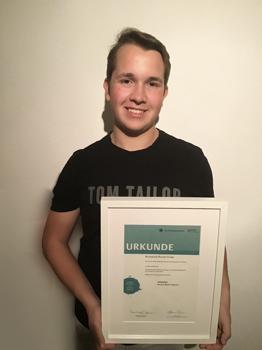 Alexander Stern (12b) – Landessieger im Geschichtswettbewerb des Bundespräsidenten